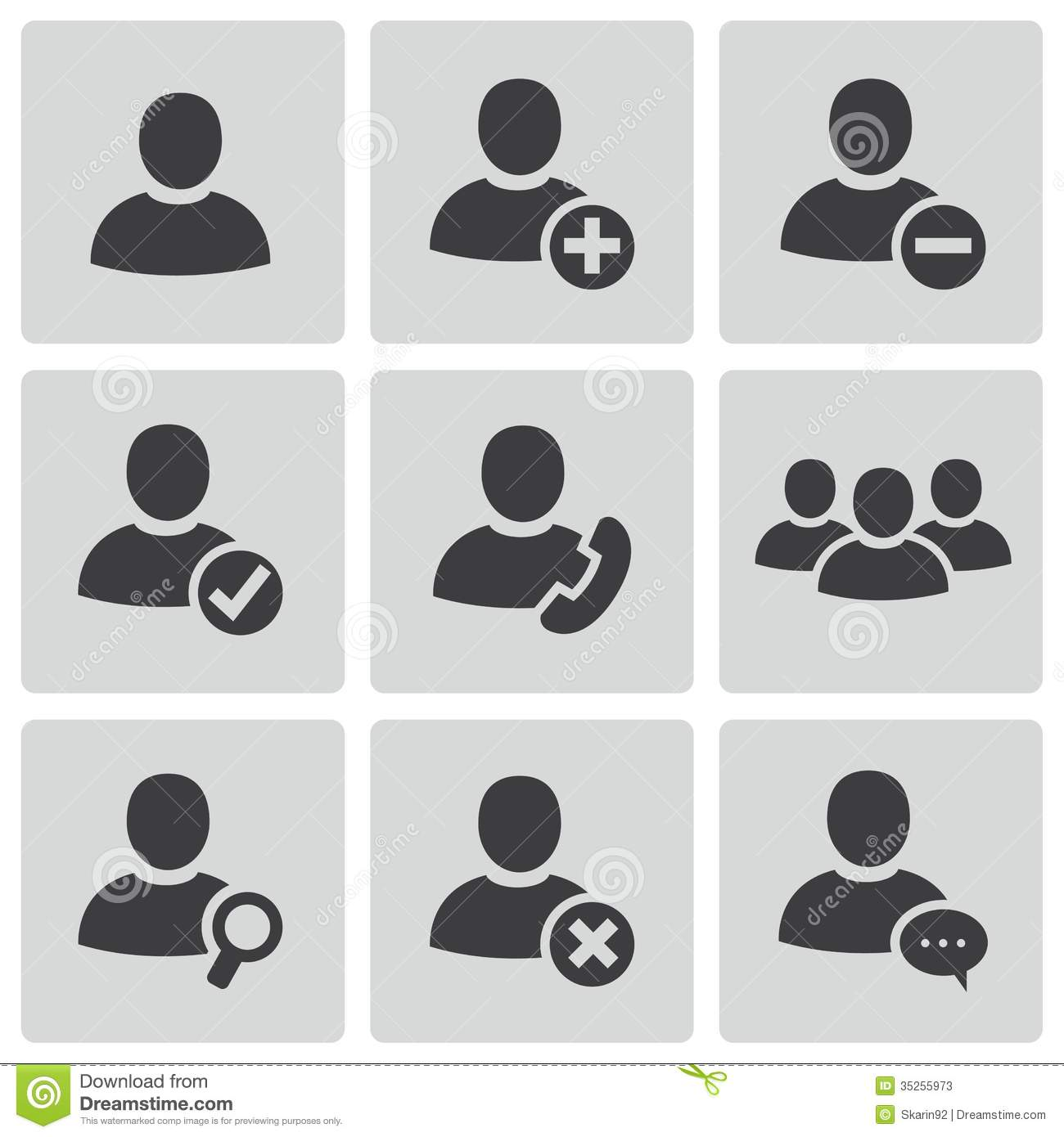 9 People Profile Vector Icons Images
