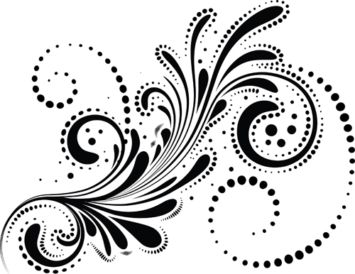 Vector Swirl Design Border