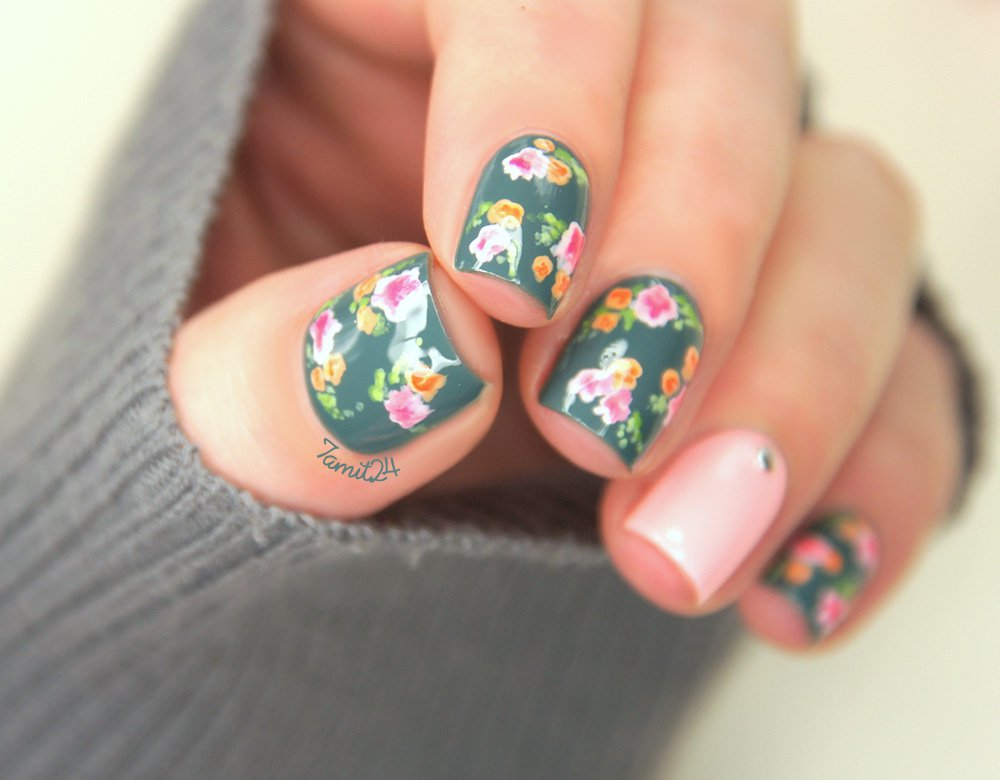13 Floral Nail Designs Images