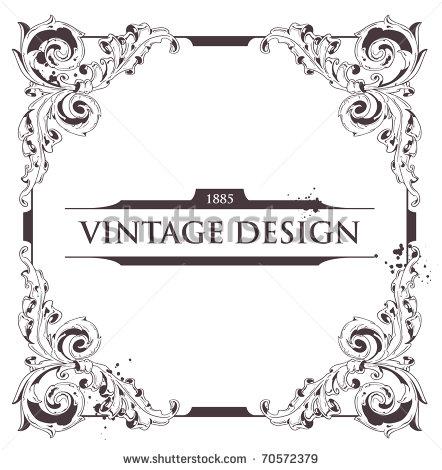 Vintage Flourish Vector