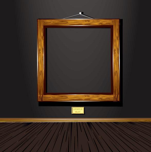 Wood Vintage Frame Vector