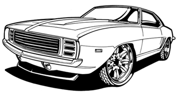 14 69 Camaro Vector Images