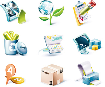 3D Icons Vector Free Download