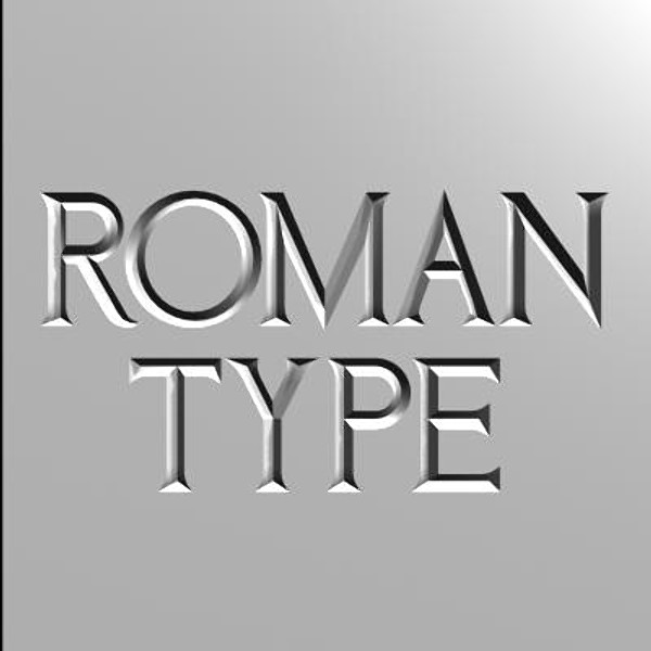 Free font of roman modified images