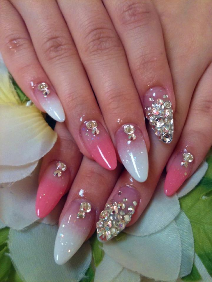 11 Cute Nail Designs With Rhinestones Images Nail Designs With