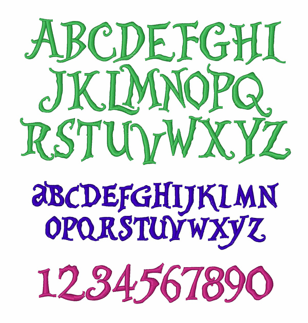 Alice in Wonderland Embroidery Font