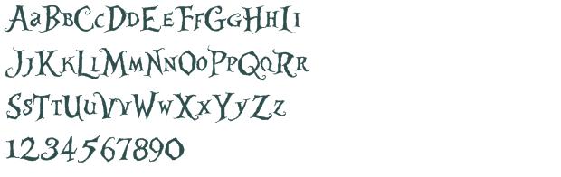 Alice in Wonderland Letter Fonts