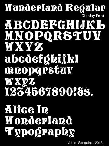 Alice Wonderland Font