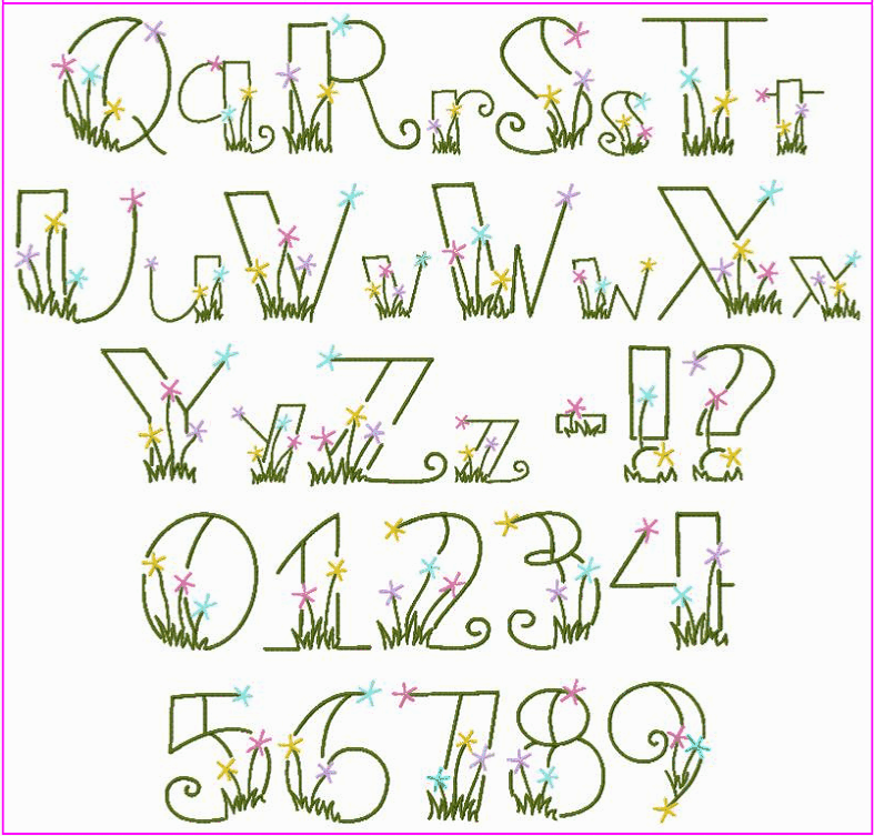 Flower letters font images fonts alphabet