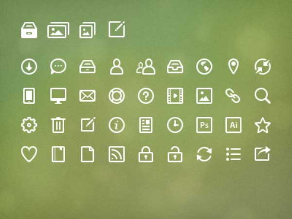 Application Icon in Photoshop