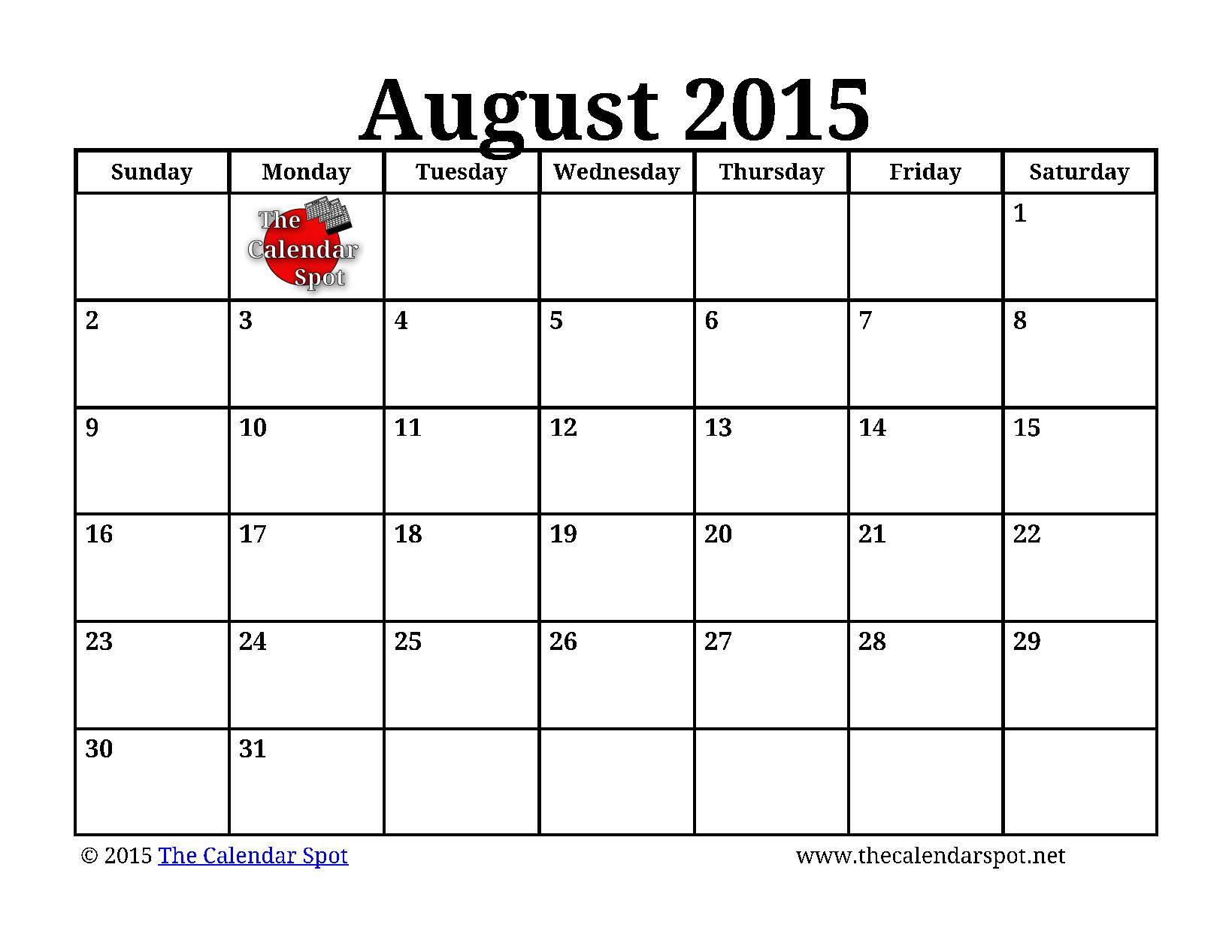 october 2015 excel calendar