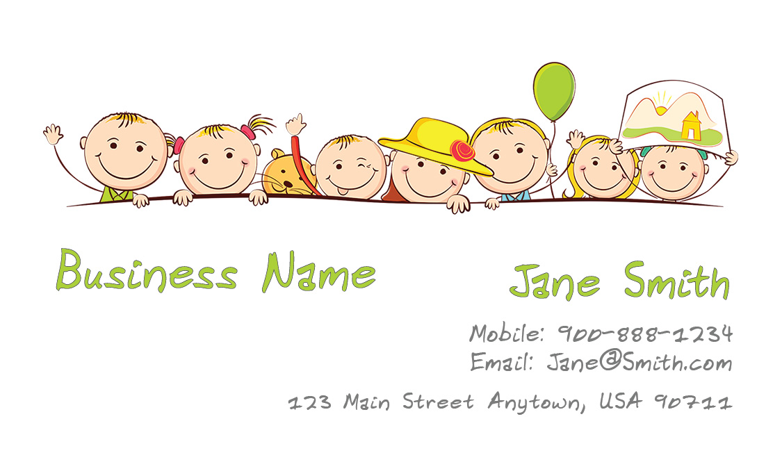 17 blank babysitting card template design images