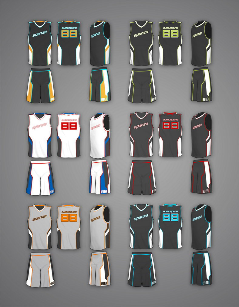 Basketball Jersey Design Template