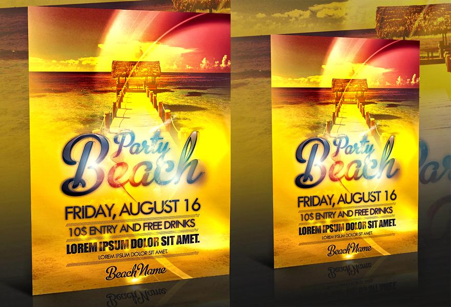18 Beach Party PSD Images