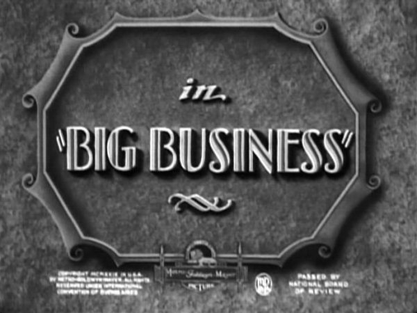 Big Film Studios Business Cards