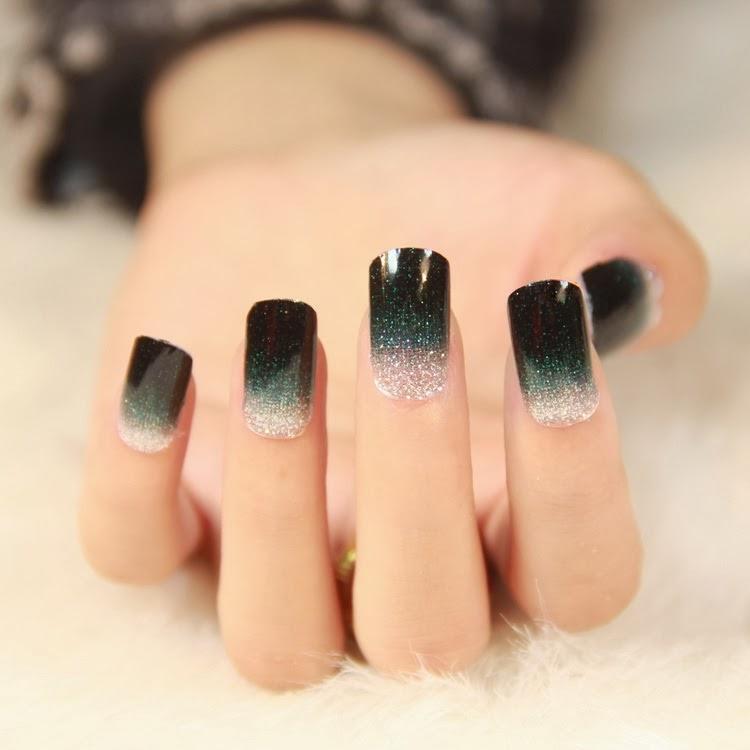 18 2014 New Hot Design Nails Images Black Acrylic Nail Designs