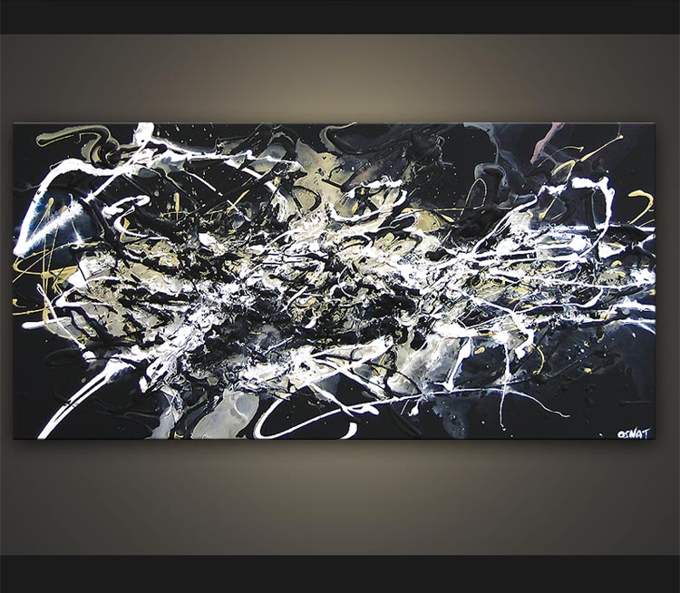 18 black and white abstract graphics images modern for Black white canvas paintings