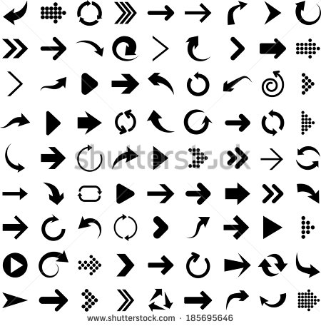 11 Black Arrow Icon Vector Images