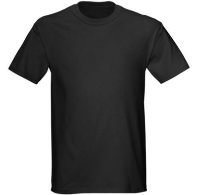 Blank Black T-Shirt Photoshop
