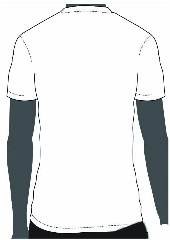 Blank T-Shirt Design Template