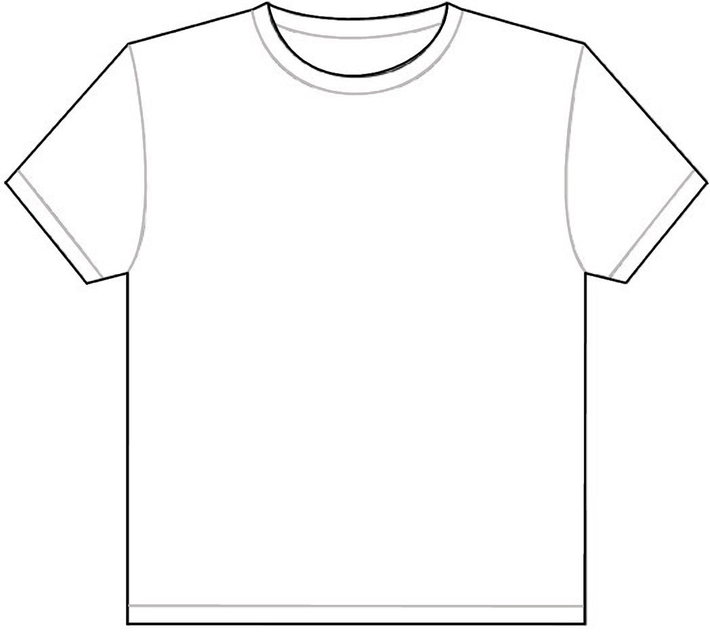 Blank T-Shirt Outline Template