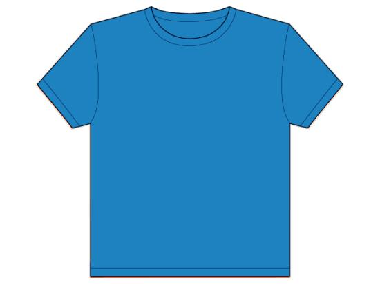 Blue T-Shirt Template