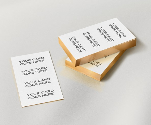 8 Gold Business Card Mockup PSD Images