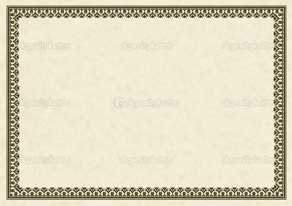 Certificate Frame Vector