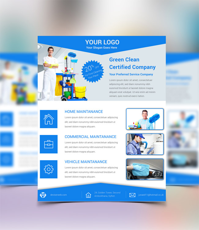 14 Cleaning Services Flyer Templates Psd Images