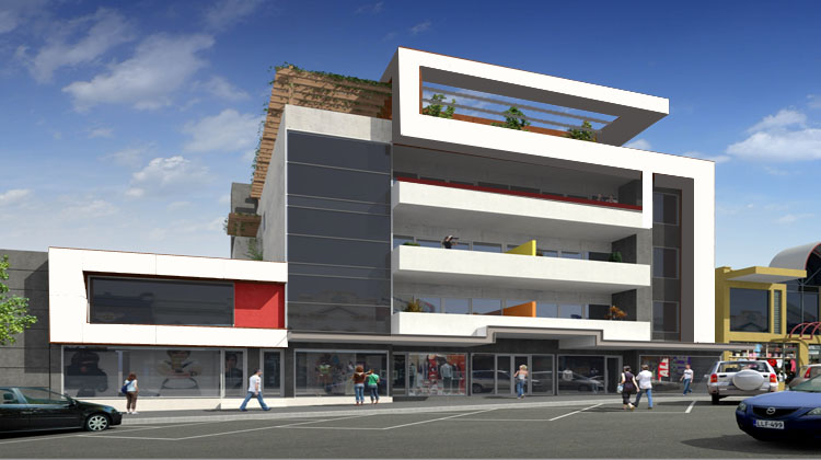 Image gallery modern commercial building design for Commercial building designs and plans