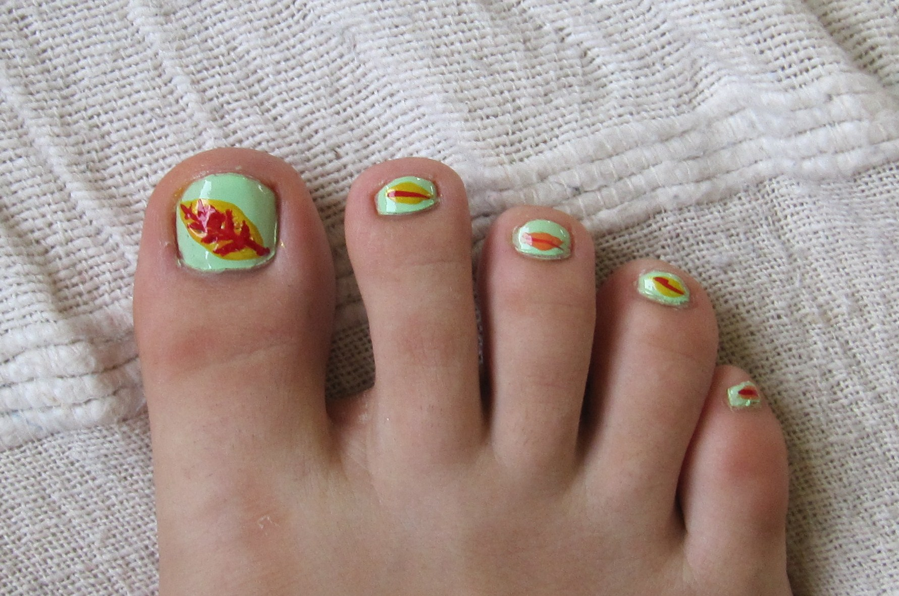 13 Toe Nail Designs With Lines Images - Simple Toe Nail Designs ...