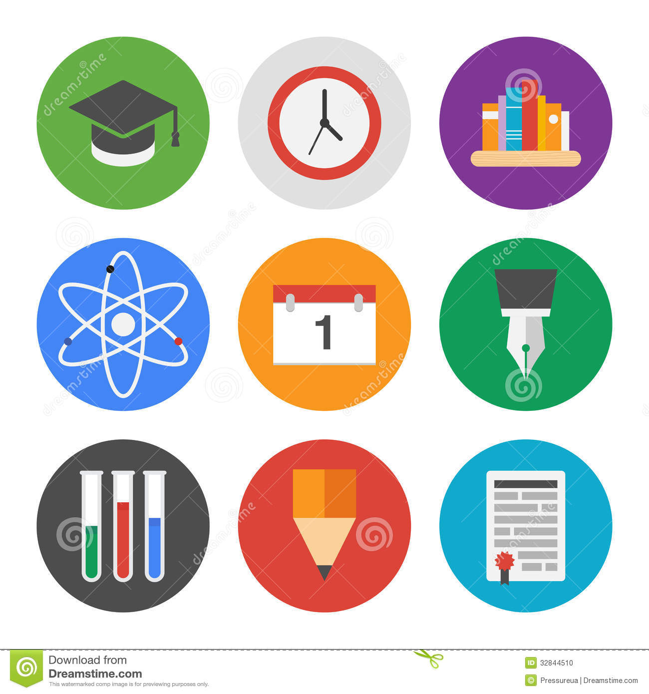 15 Education Subjects Icon Set Images