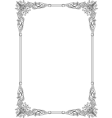 17 silver vintage frames and borders vectors images