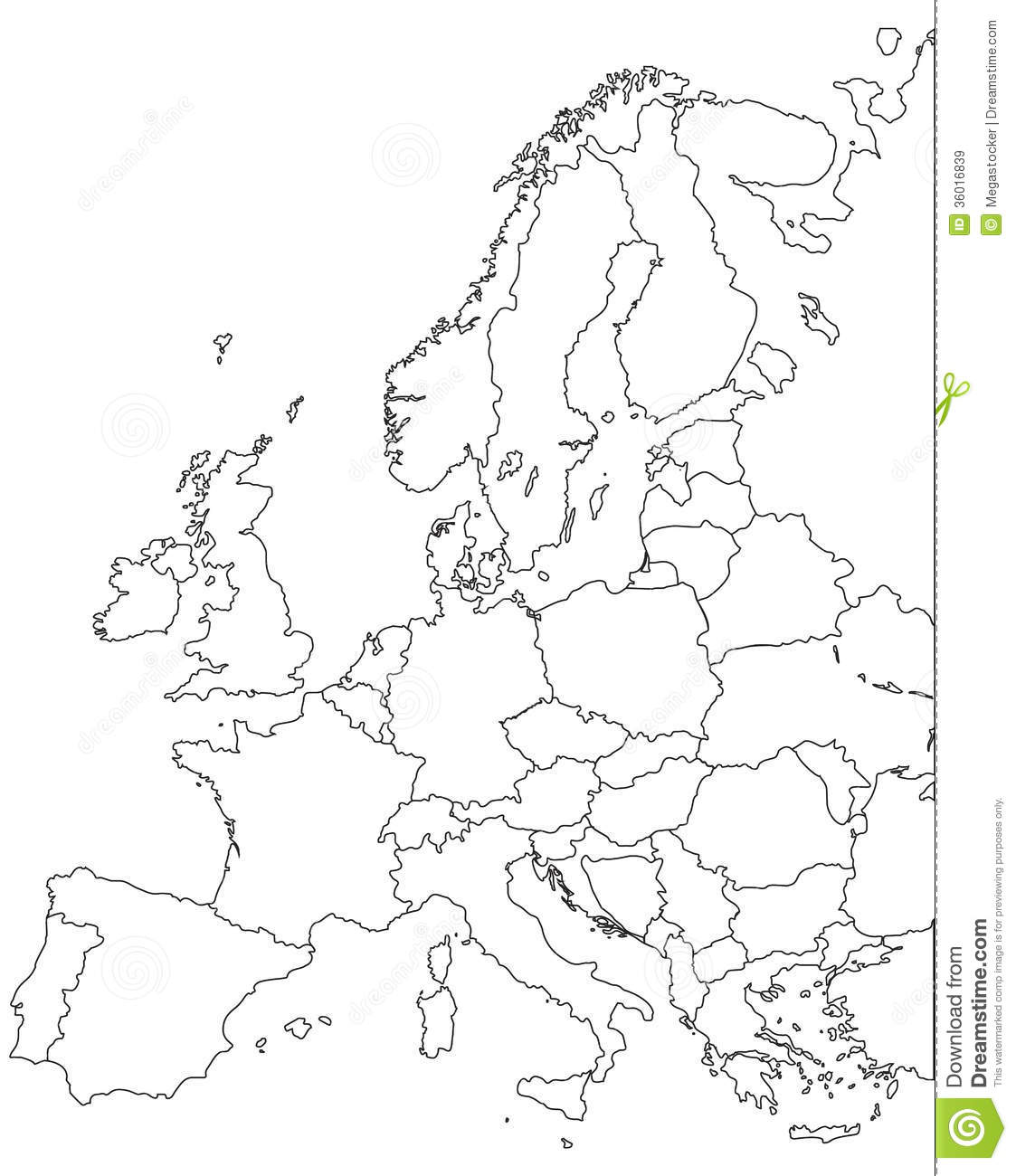 Europe Map Outline
