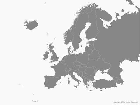 Europe Map Vector Free