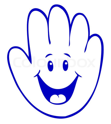 7 Raised Hand Emoticon Images - Waving Smiley Face Clip ...