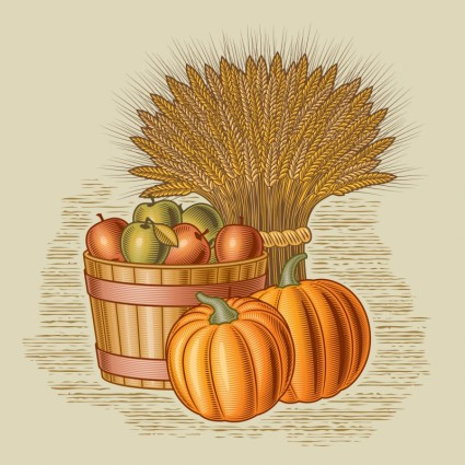 12 Harvest Wheat Vector Images