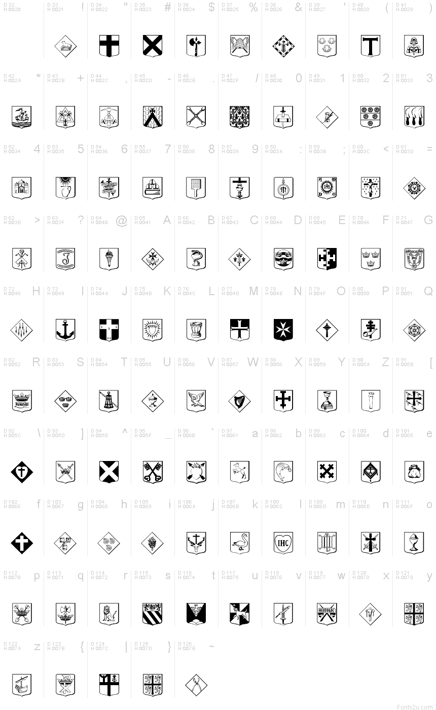 Fonts for Religious Icons