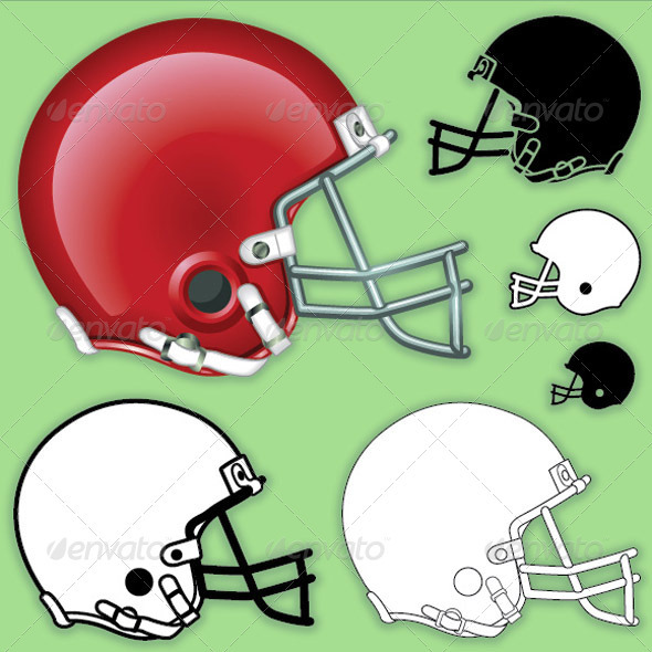 14 Football Helmet Template Photoshop PSD Images