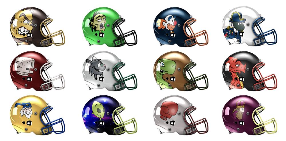 Football Helmet Template Photoshop