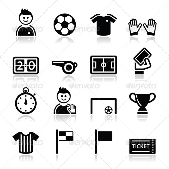 13 Sports Football Vector Icons Images