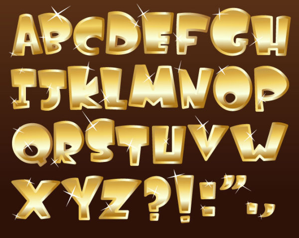 8 Vector Gold Fonts Images