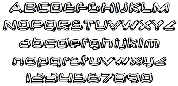 Free Disney Cars Chrome Font