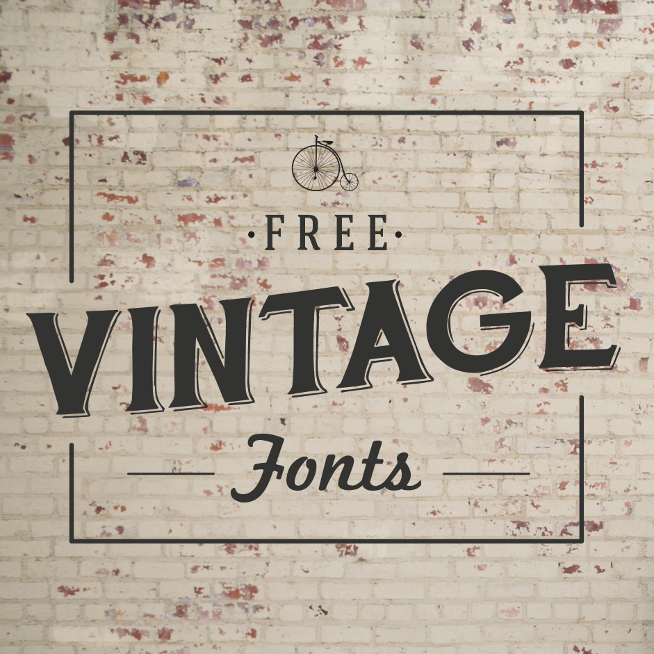 17 Vintage Advertising Free Retro Fonts Images