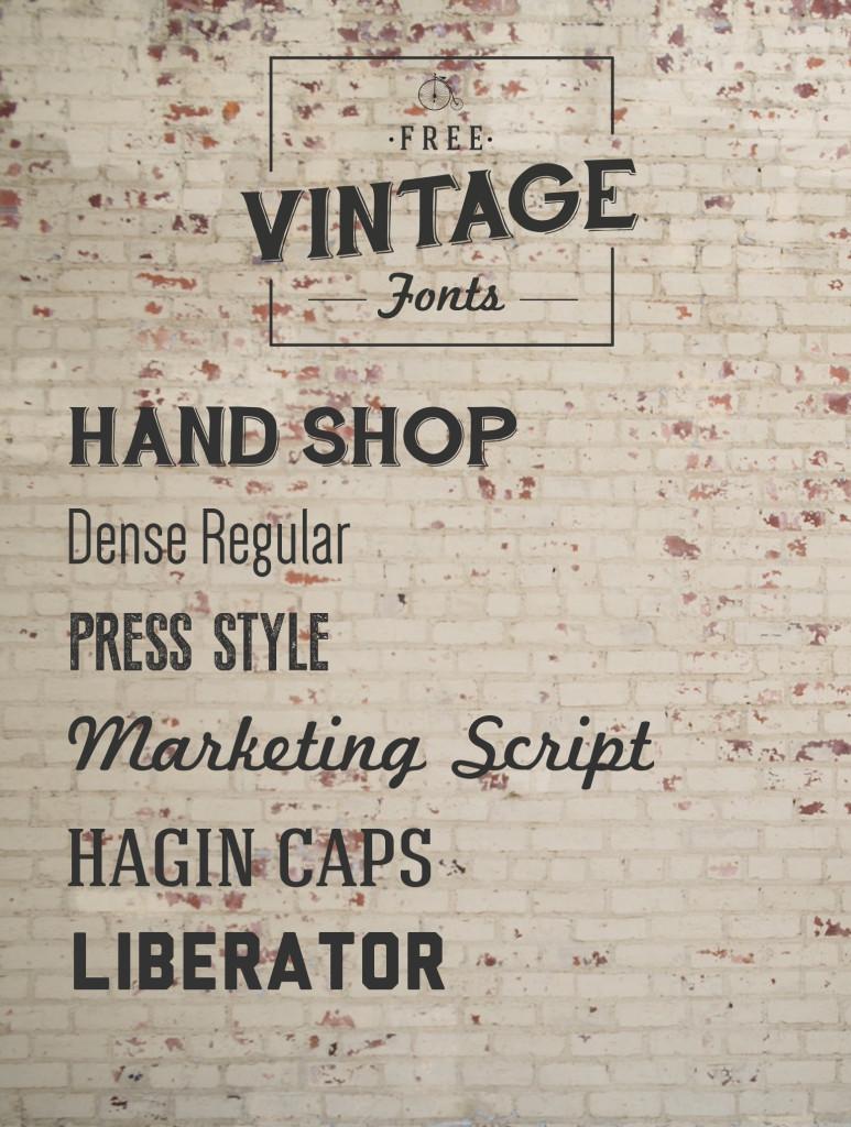 Free Vintage Lettering Fonts