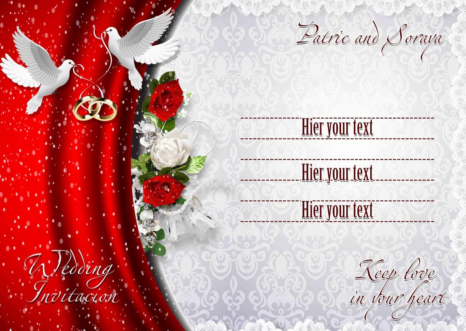 photoshop wedding invitation template