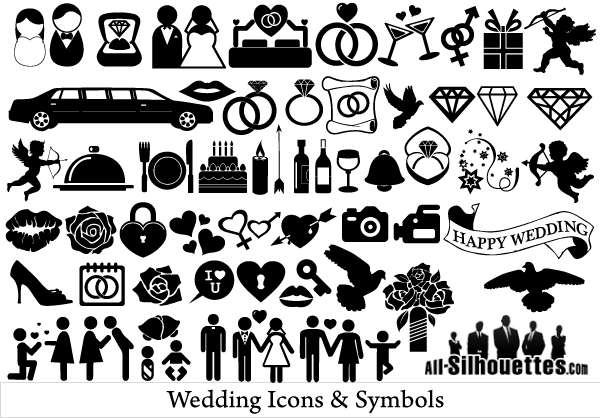 8 Free Vector Wedding Icons Images
