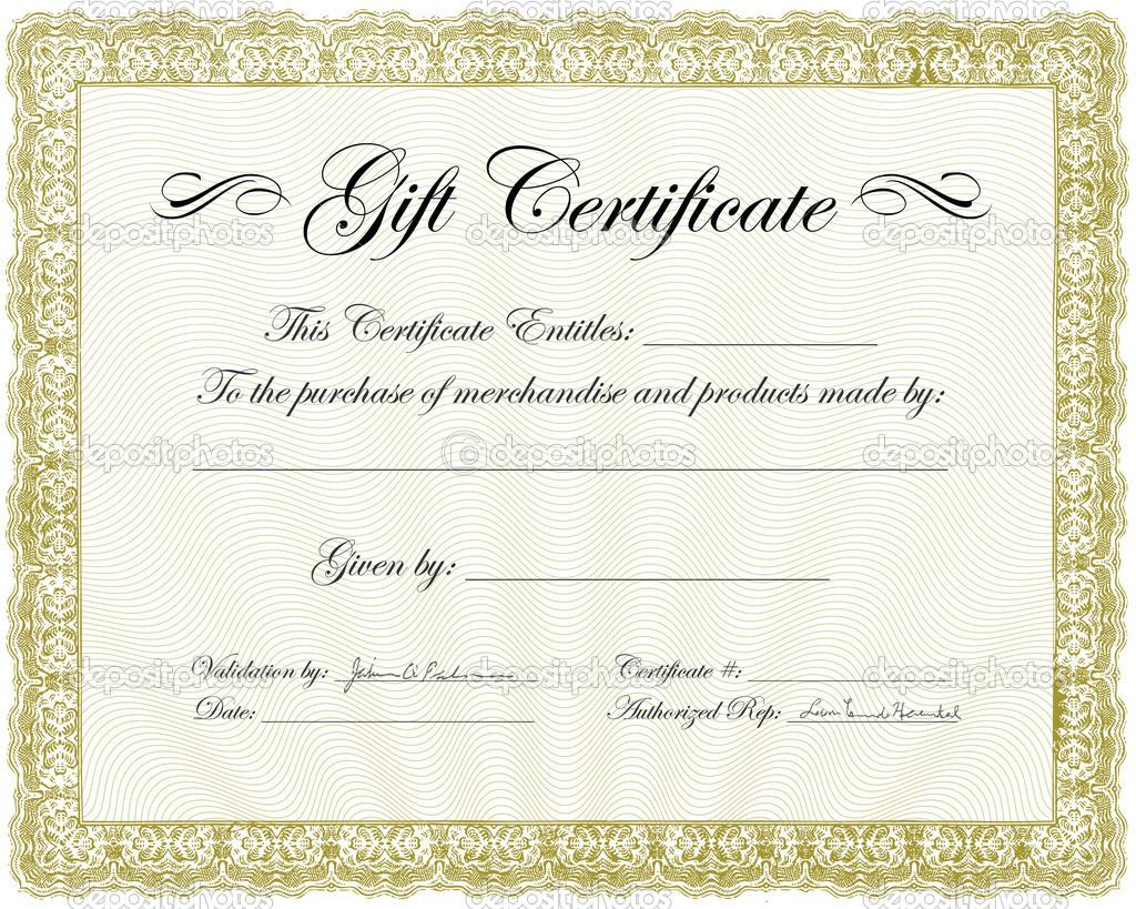Gift Certificate Frame