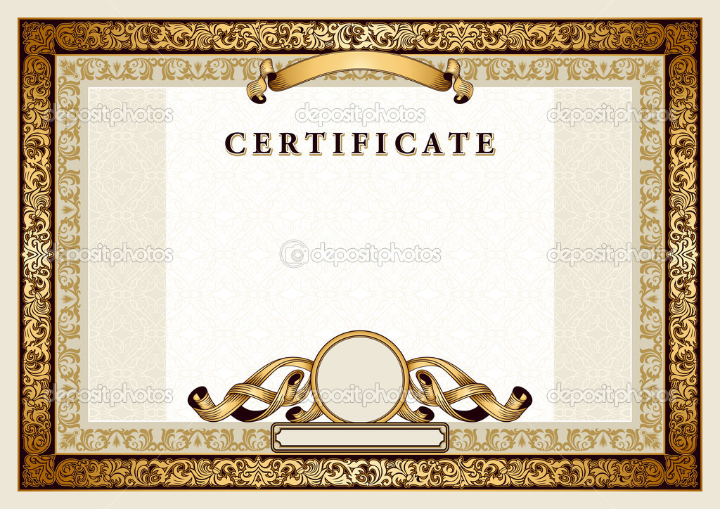 Gold Certificate Borders and Frames