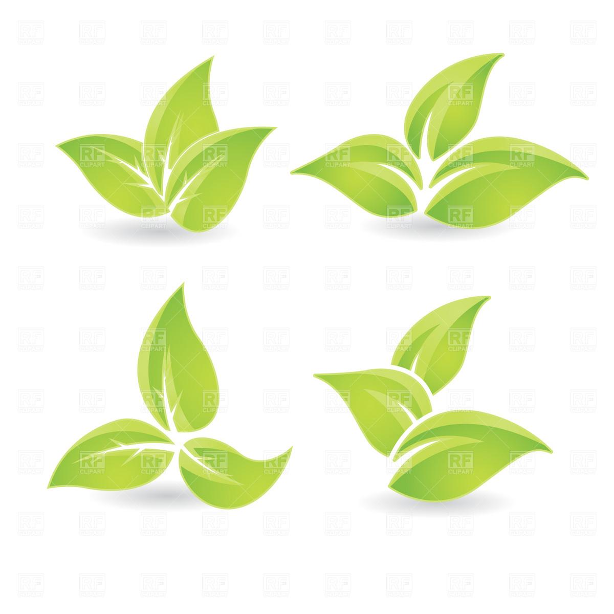 Green Leaves Vector Clip Art
